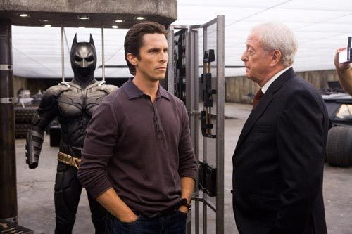"Christian Bale and Michael Caine in ""The Dark Knight"" © Warner Bros."