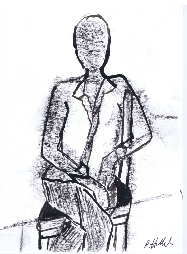 A recent sketch of Jay Asquini by Rachel Holland